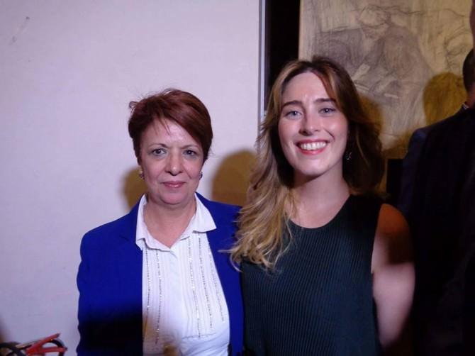 Mria Greco e Maria Elena Boschi