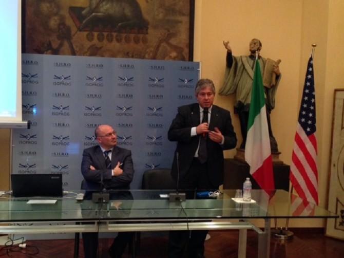 Da sinistra Pierluigi Scalia e Angelo Giordano Isoprog