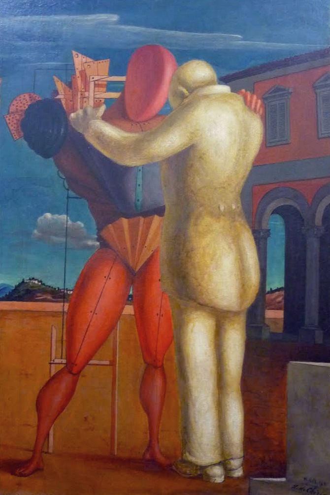 Il quadro contenuto nella documentazione del saggio artistico-letterario: Giorgio De Chirico - Il Figliol Prodigo (1922)