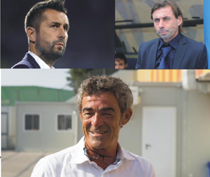 In alto a sinistra Nenad Bjelica (44), a destra Carmine Gautieri (45), in basso Gateano Auteri (55)
