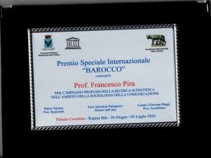 targa Francesco Pira