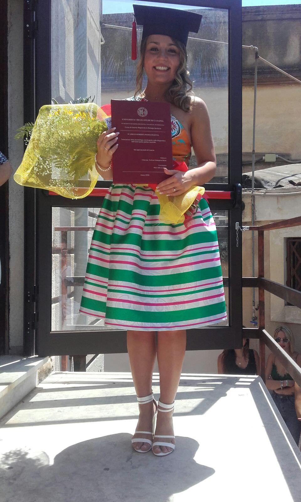 Congratulazioni alla nostra collega Roberta D'Amico: oggi laureata!
