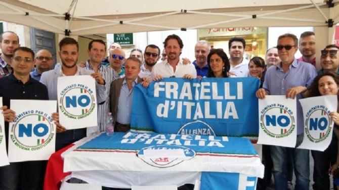 "Coordinamento fratelli d'italia an ""no"" referendum ottobre"