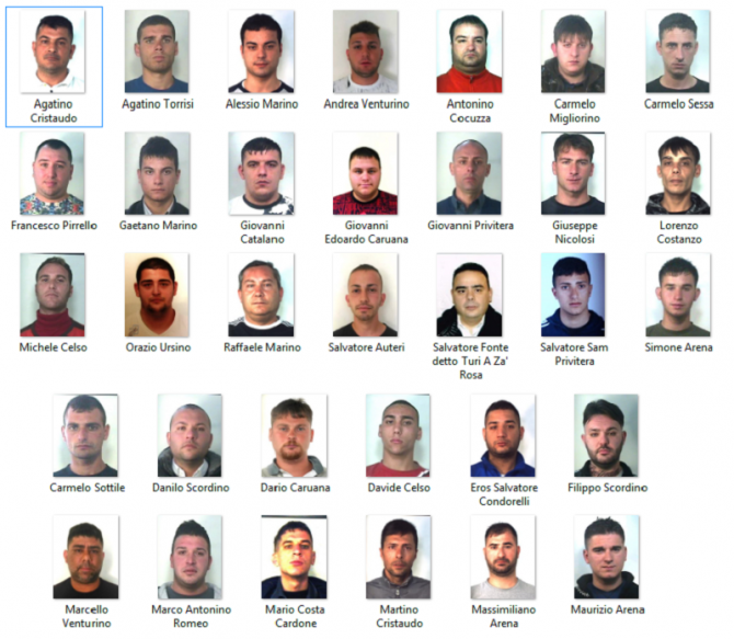 Sono 34 i soggetti coinvolti nel blitz a Librino: tutti i nomi e le foto degli arrestati