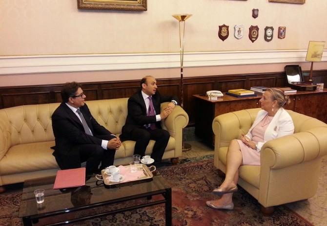 Prefetto di Catania con ambasciatore repubblica Azerbaigian