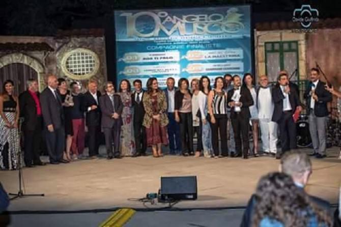 A Catena Fiorello il X premio Angelo Musco Trionfano le Compagnie Dietro Le Quinte e Re di Cuore