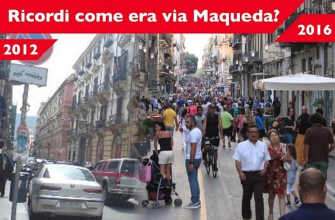 Via Maqueda prima e ora. Ecco la campagna di sensibilizzazione di Palermo