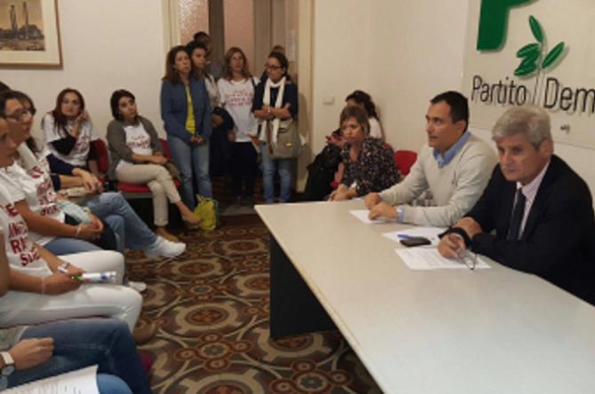 Caos GaE infanzia a Catania, le docenti incontrano il Pd
