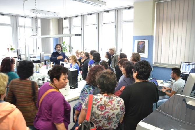 Radiologi e biologi israeliani in visita