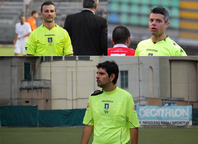 In alto a sinistra Carlo Amoroso, a destra Giosuè D'Apice e in basso Diego Provesi