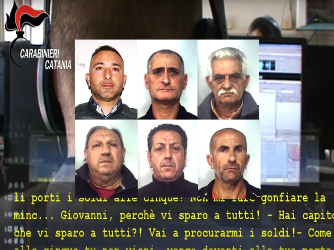 Estorsioni, clan Santapaola-Ercolano, i CC arrestano 6 persone a Catania