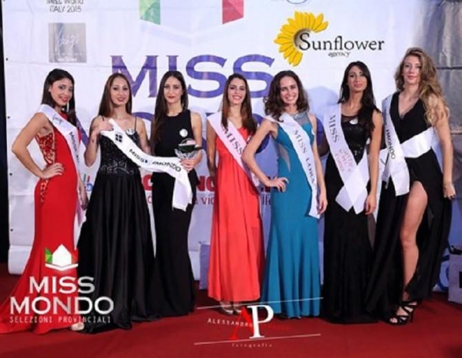 Sette le ragazze della finale provinciale di Miss Mondo