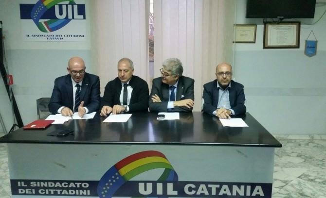 Da sinistra: Francesco Napoli, Maurizio Attanasio, Fortunato Parisi e Giacomo Rota