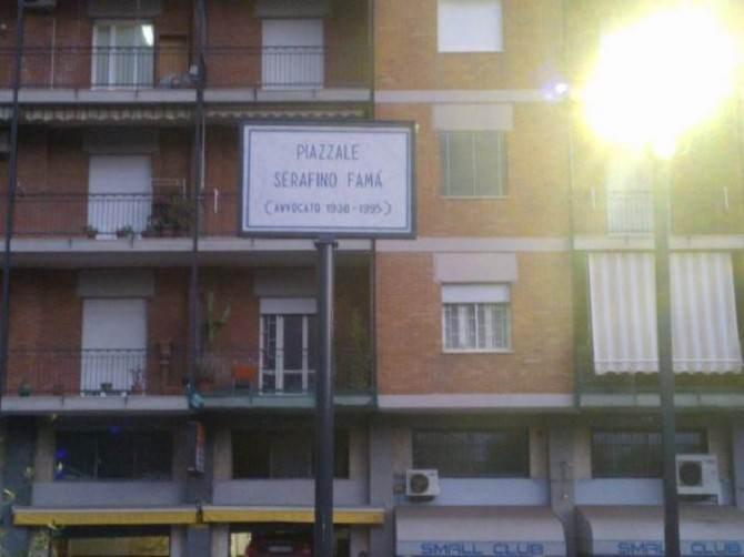 Inaugurato a Catania il piazzale Serafino Famà