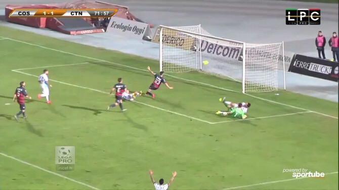 L'azione dell'1-2: goal di Mazzarani