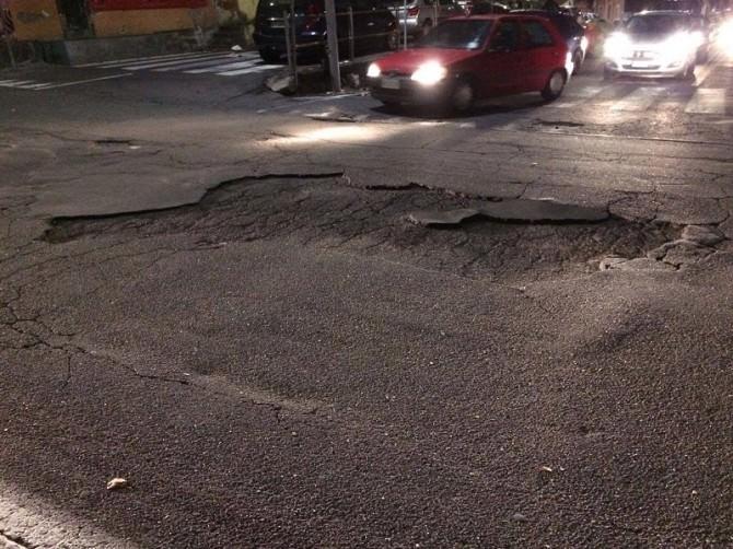 Dopo il maltempo della scorsa settimana a Canalicchio strade gruviera