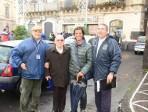 Nella foto: da sin. Pietro Collura, Salvatore Ciccia, Luigi Puglisi, l'1 dicembre 2013 a Paternò per il Trofeo S. Barbara.