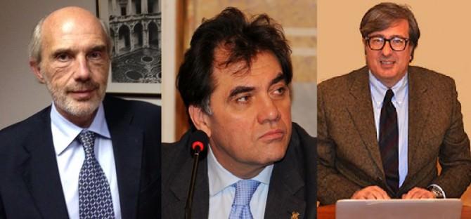 In ordine alfabetico, da sx: Francesco Basile, Filippo Drago e Enrico Foti.