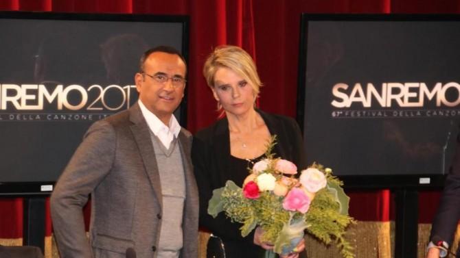 Carlo Conti e Maria De Filippi sul palco dell'Ariston: ecco le novità sul Festival
