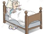 23860561-Uomo-malato-a-letto-con-la-febbre-Archivio-Fotografico