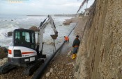 Agrigento, si rompe il tubo delle fogne di San Leone (come previsto). FOTO E VIDEO