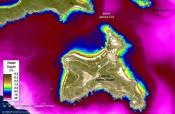 Immagine satellitare Isole Vergini