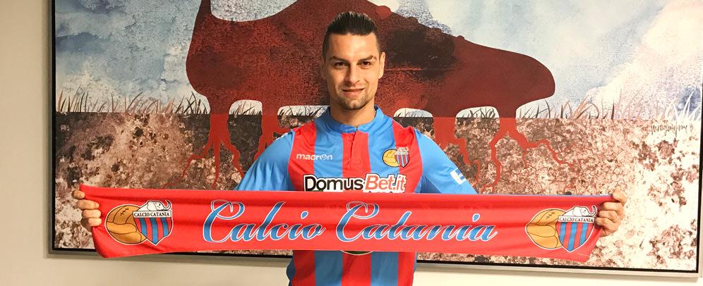 Demiro Pozzebon (29), nuovo attaccante del Catania