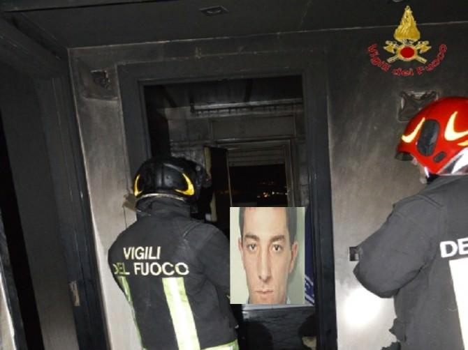 Enrico Antonio Sapienza incendio