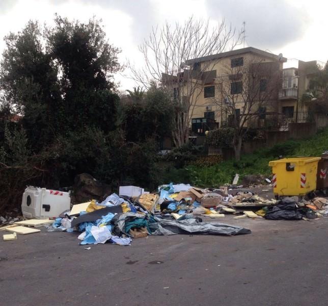 spazzatura davanti scuola petrarca