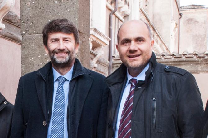 Dario Franceschini e Antonino La Spina