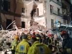 Vigili del fuoco 9 in azione al crollo di via Archimede a Catania