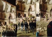 crollo via Archimede a Catania