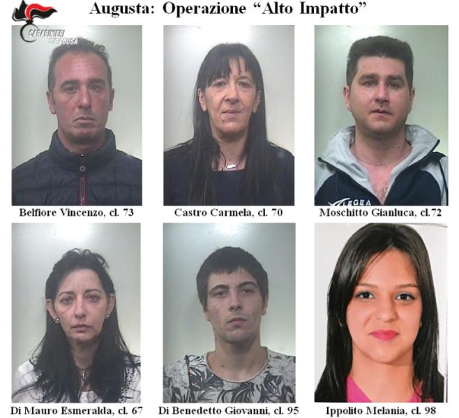 foto arrestati alto impatto augusta