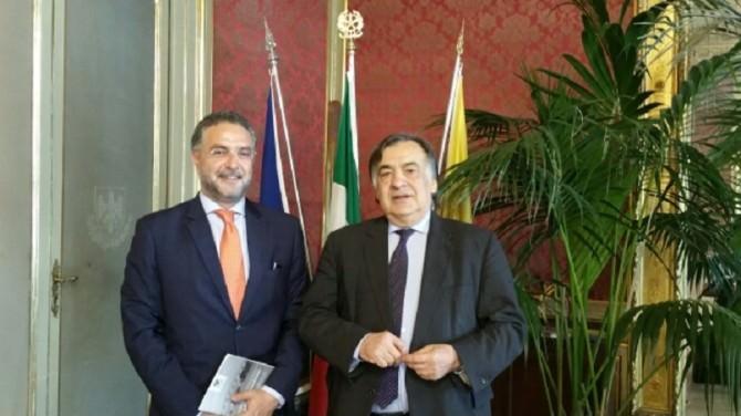 Palermo: il sindaco Orlando riceve il nuovo questore di palermo