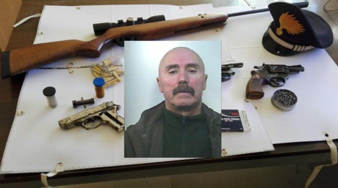 Armi e munizioni sequestrate