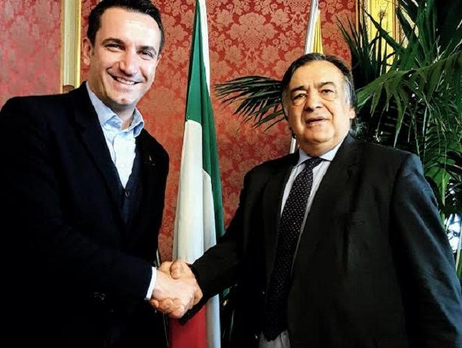 Leoluca Orlando incontra il sindaco di Tirana: accoglienza e migranti all'ordine del giorno