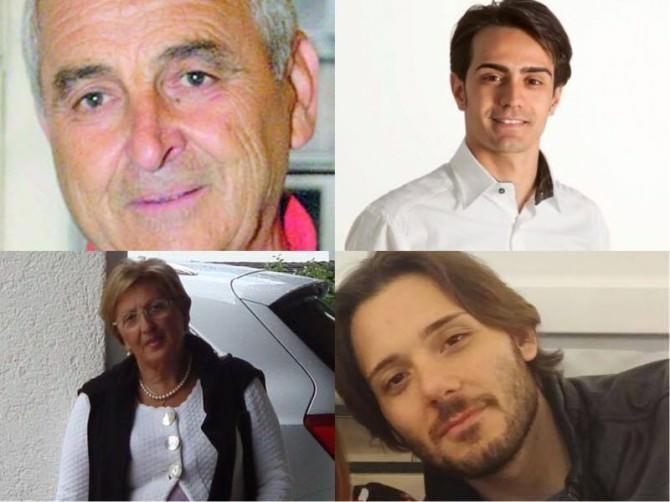 Da sinistra: Nino Di Guardo, Marco Corsaro, Maria Antonia Buzzanca, Giuseppe Di Stefano