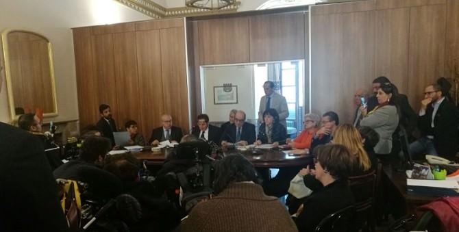 Seduta commissione regionale sanità: disabili spostati da una sala all'altra