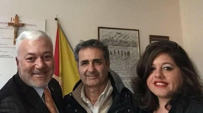 da sin. Domenico Interdonato, Rosario Lo Faro, Carmen Intile