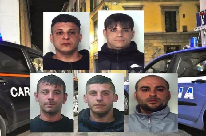 Catania: rapine con spaccata ea mano armata, sei arresti