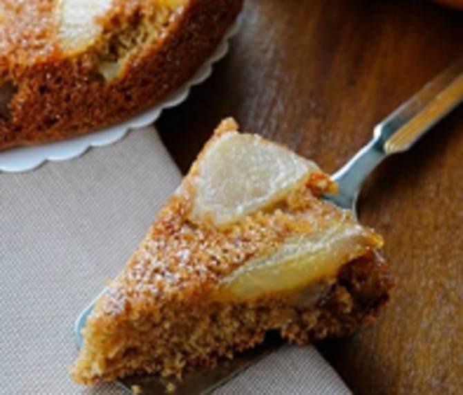 ricetta torta pere e noci