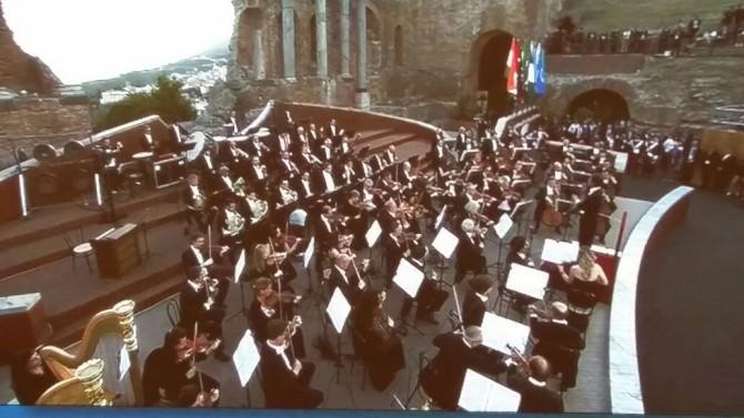 G7: le immagini del concerto al Teatro Greco