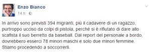 Enzo Bianco migranti porto Catania