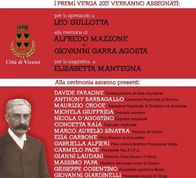 Appuntamento con il Premio Verga sabato 13 maggio