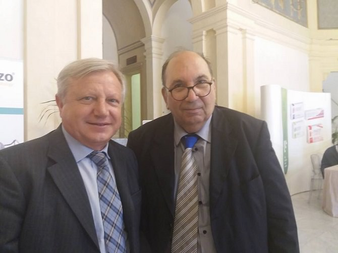 il prof. Sandro Michelini presidente Italf e Francesco Forestiere presidente Sos Linfedema