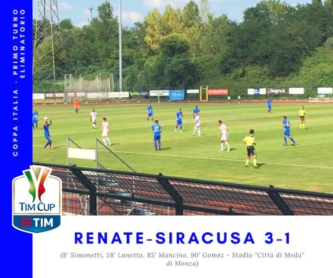 Tim Cup, il Siracusa perde 3-1 con il Renate