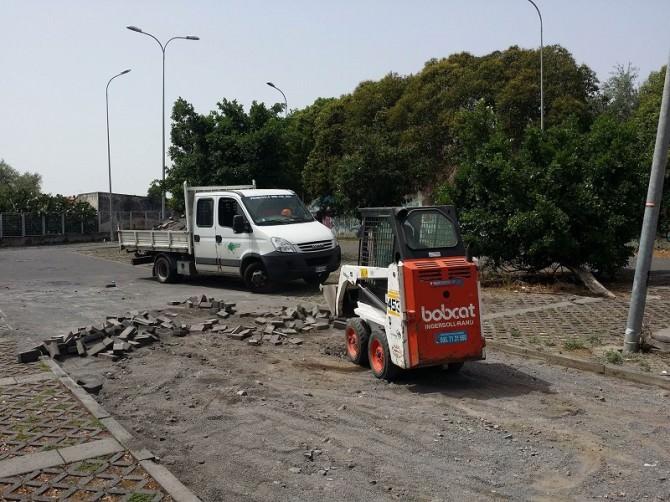 San Giovanni Galermo, iniziano i lavori di riqualificazione del parcheggio scambiatore. LE FOTO