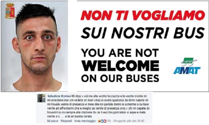 Borseggiatore seriale Palermo bus Amat